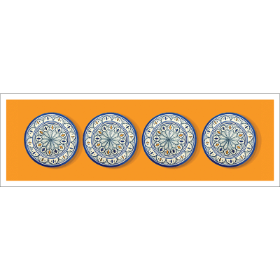 Poster oriental-assiette-orange