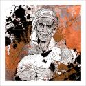 Poster oriental-le berger-marron
