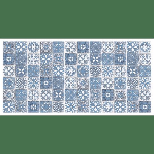 Poster oriental-mosaïque camaïeu-bleu