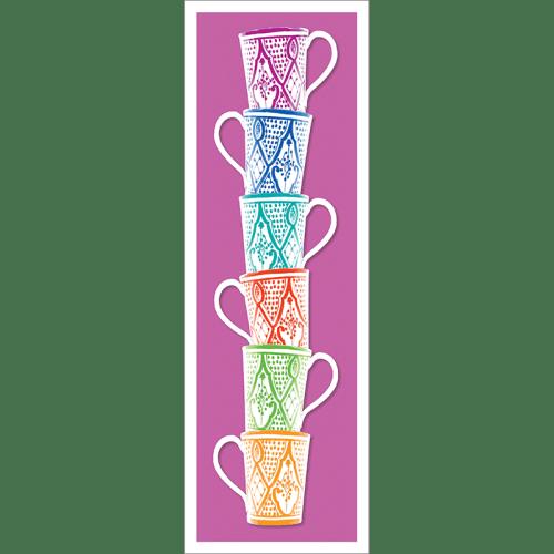 Poster oriental-mug colonne-violet