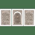 Poster oriental-arabesque triptyque-marron