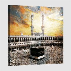 Tableau islam kaaba-couleur