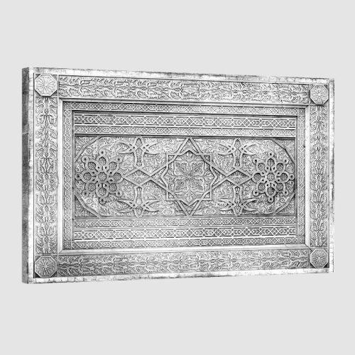 Tableau oriental décor arabe-noir et blanc