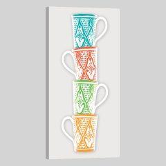 Tableau oriental mug colonne