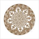 Poster oriental-assiette moderne-marron