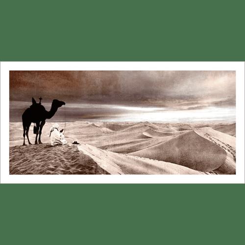 Poster oriental-désert-marron