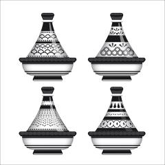 Tableau arabe-tajine déco-noir