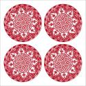 Tableau oriental-Assiette moderne-rouge