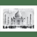 Poster oriental-Taj Mahal-noir et blanc