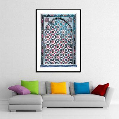 Poster arabe portes mosaique
