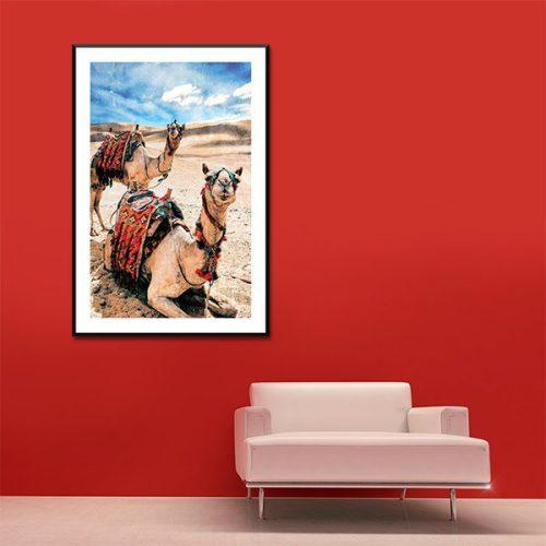 Poster oriental dromadaire