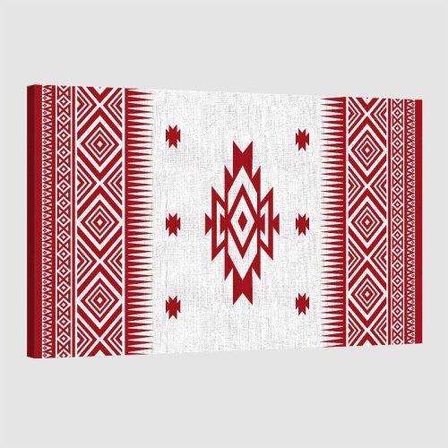 tableau oriental motif berbère-rouge