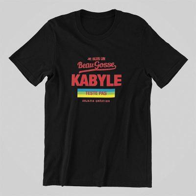 T-shirt kabyle-beau gosse-noir