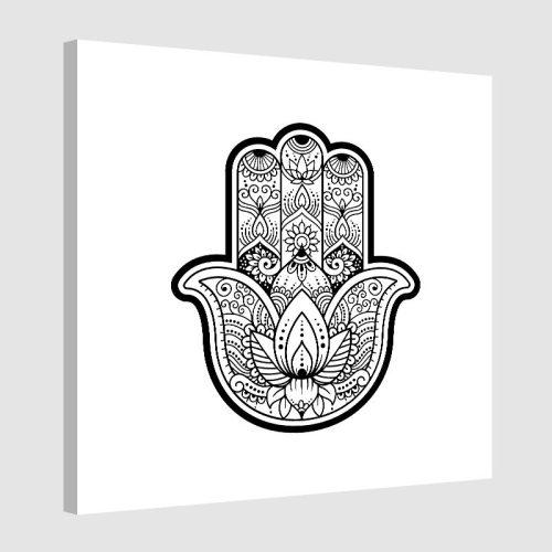 Tableau arabe khamsa-blanc