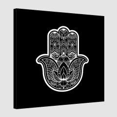 Tableau arabe khamsa-noir