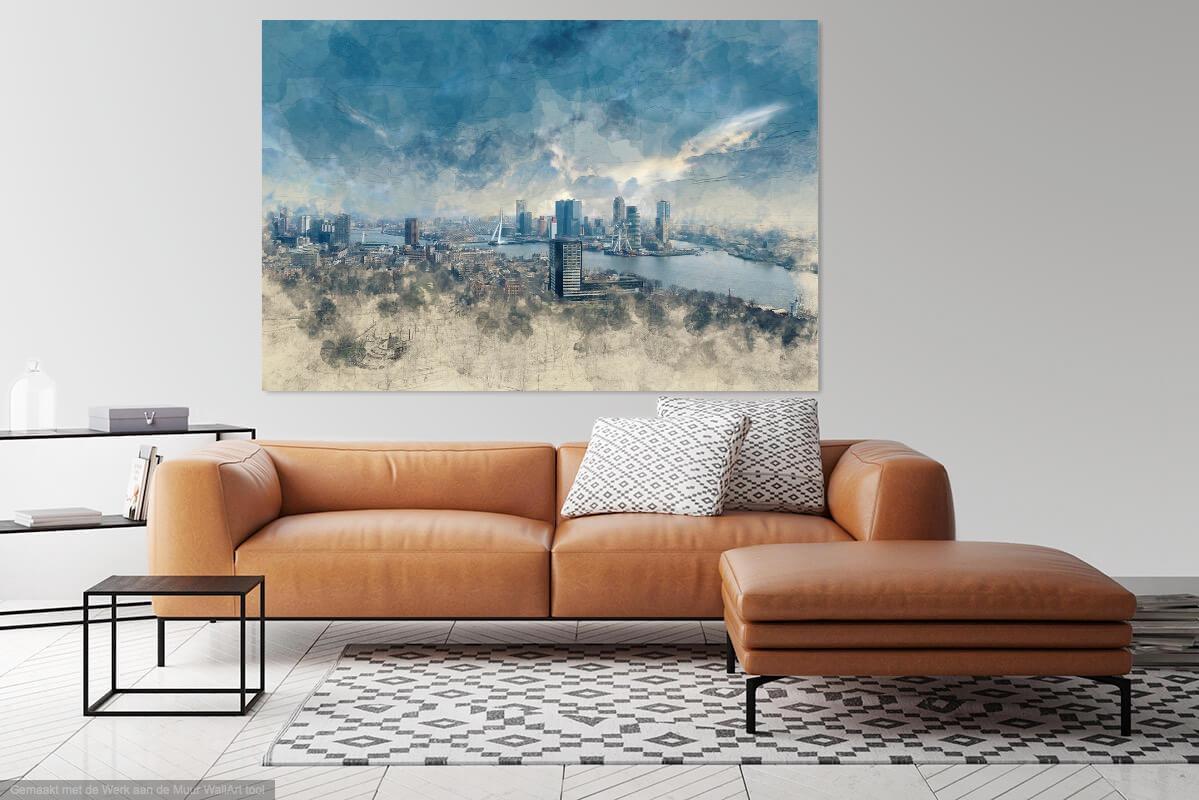 Painted skyline Rotterdam