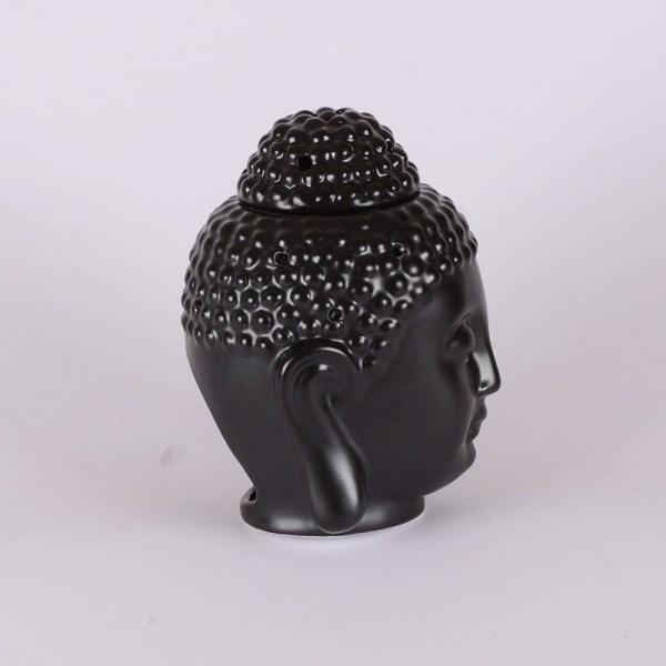 Büyük Boy Siyah Buddha Seramik Buhurdanlık