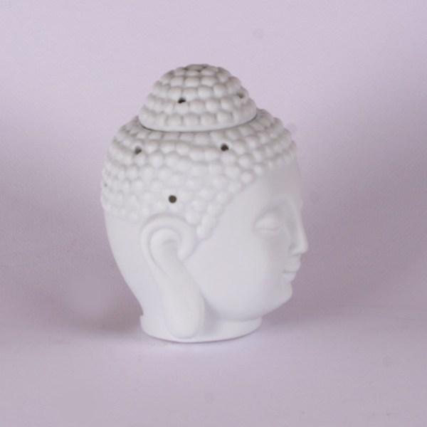 Büyük Boy Beyaz Buddha Seramik Buhurdanlık