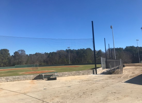 Baseball Field #5 at the Youth Sports complex has received safety updates recently. We have replaced the 20ft. poles with 30 ft. poles that will expand 145 ft. wide with netting to prevent foul balls from flying into the concession area, or toward spectators at nearby softball fields.