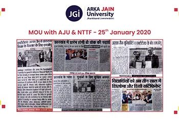 mou with AJU & NTTF 350x255
