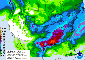 NOAA 7 day precipitation forecast