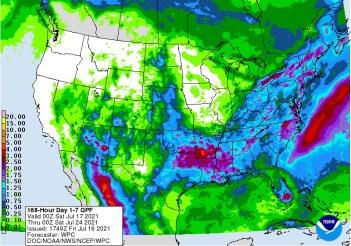 NOAA 7 day precipitation forecast