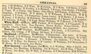 Names and P.O. Addresses of Farmers in Arkansas, p. 19