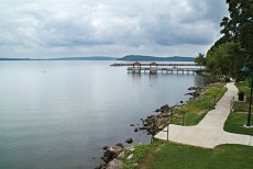 Overloooking Lake Dardanelle from the deck of the visitor's center.