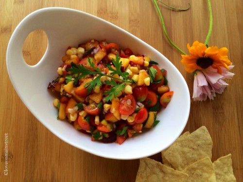 arkansas peach and tomato salsa