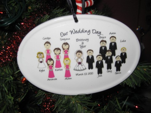 wedding party  ornament