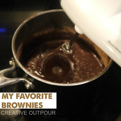 Jacqueline Presley Mixing syrup & cocoa