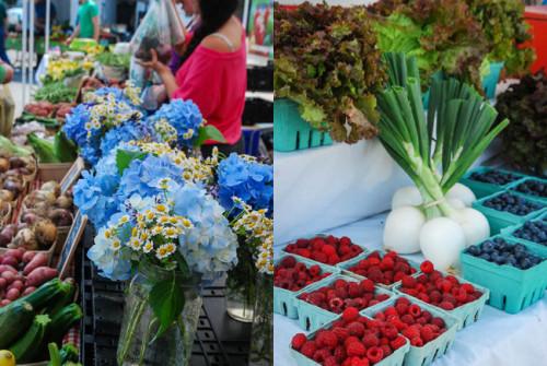 Food in Argenta-farmers market