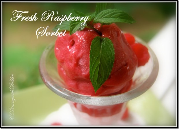 raspberry sorbet dining with debbie