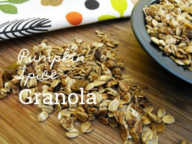 pumpkin spice granola via desperately seeking gina