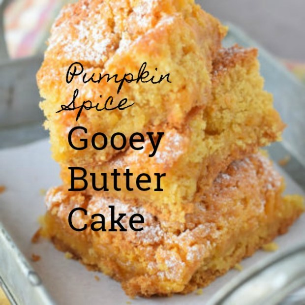 Pumpkin Spice Gooey Butter Cake - The Adventures of Mel