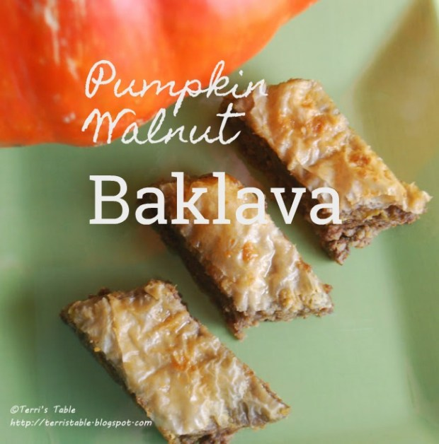 PUMPKIN WALNUT BAKLAVA desperatelyseekinggina