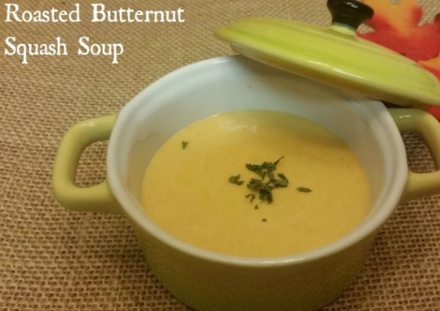 Roasted Butternut Squash Soup via Renee Birchfield of If Spoons Could Talk
