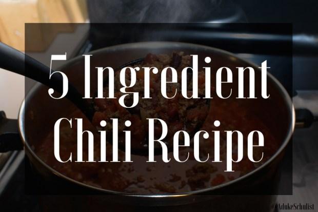 Courtney Schulist Super Easy 5 Ingredient Chili