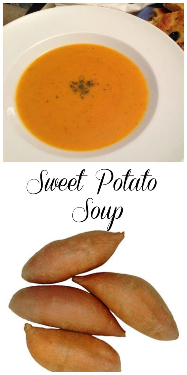 Sweet Potato Soup via Connie Kay Ash