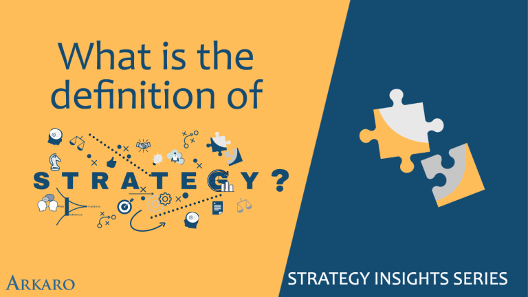 What is the definition of strategy?