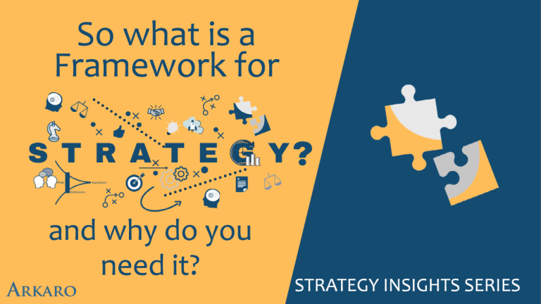 So what is a Framework for strategy? and why do you need it?