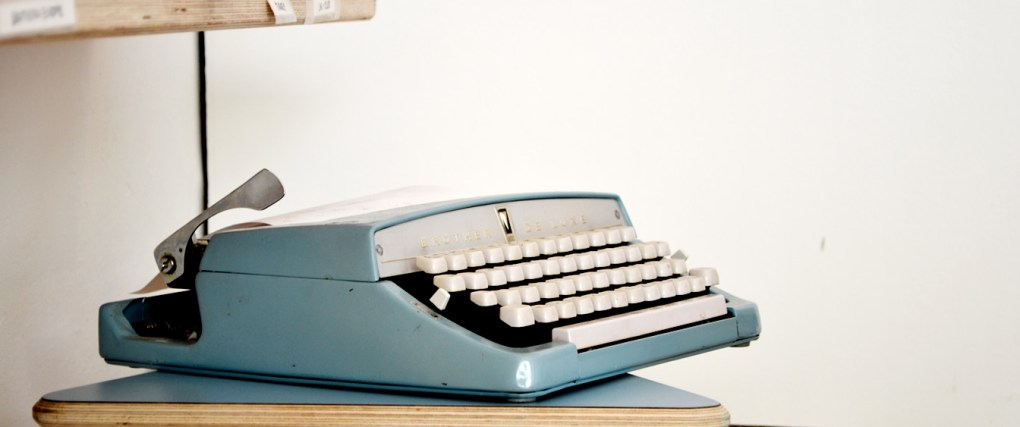 Ahh.. The sound of the typewriter.