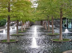 Fountain Place, Dallas by Dan Kiley