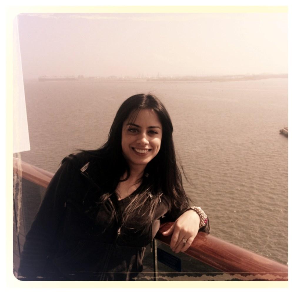On the balcony!