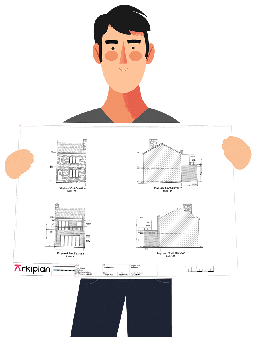 Online extension planning drawings