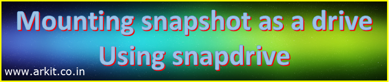 mounting snapshot in windows