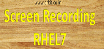 screen recording rhel7
