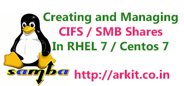 simple way to create and manage samba shares in rhel7