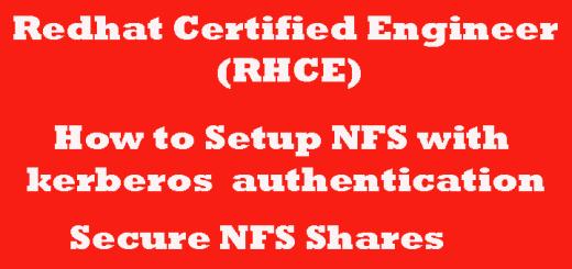 kerberized NFS Server Linux Simple way to setup