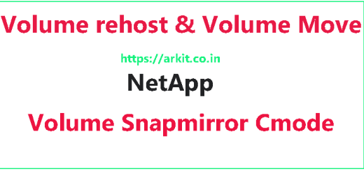 Volume move from one SVM to Another snapmirror volume Cluster mode Netapp